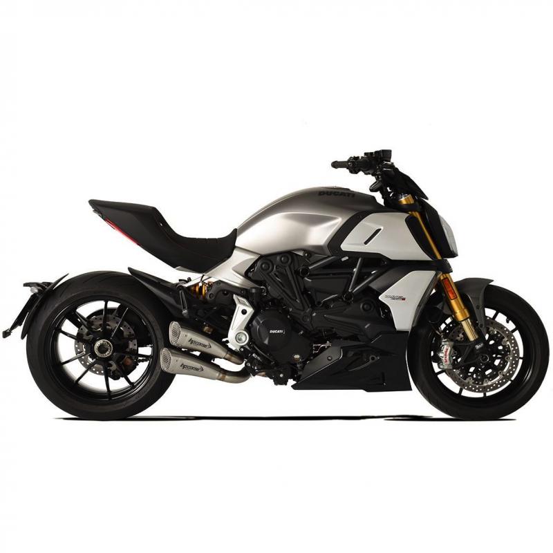HP Corse Exhaust Ducati Diavel 1260 Hydroform Short R Silencers