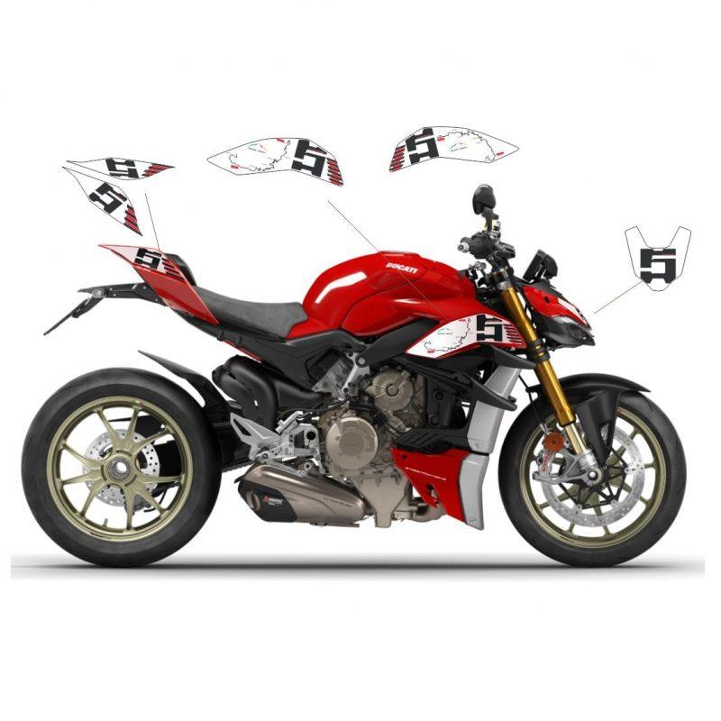 Vulturbike Ducati Streetfighter V4 Pikes Peak Decal Sticker Kit 2020+