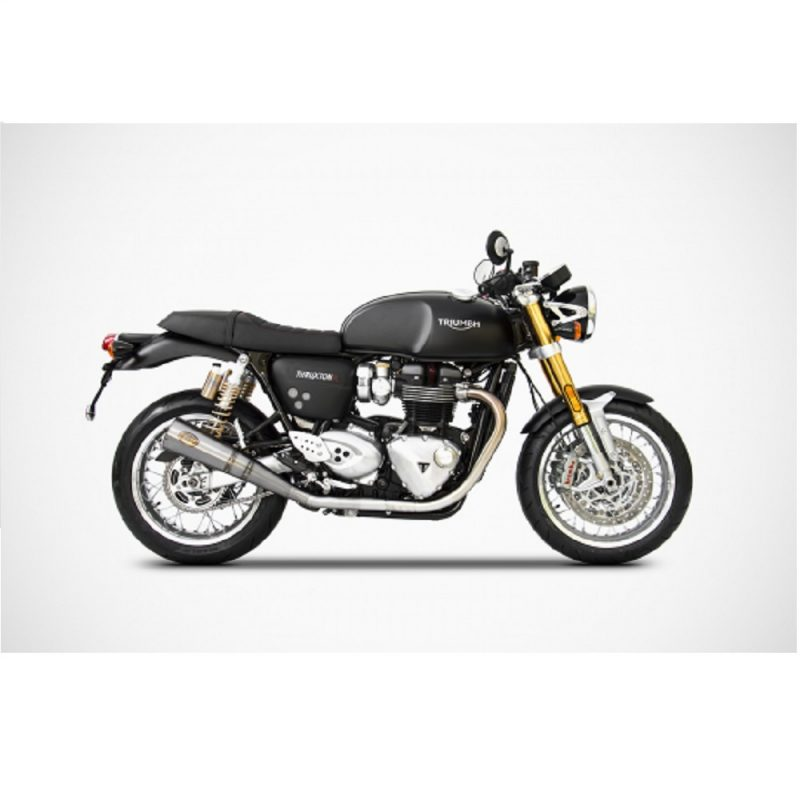 Zard Exhaust Triumph Thruxton R Stainless Slip-On Euro 4 2017-2019