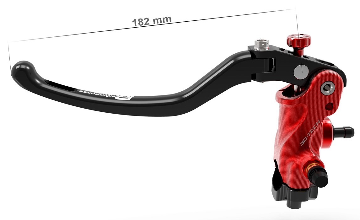 3D-TECH Red Clutch Radial Master Cylinder - Long Lever