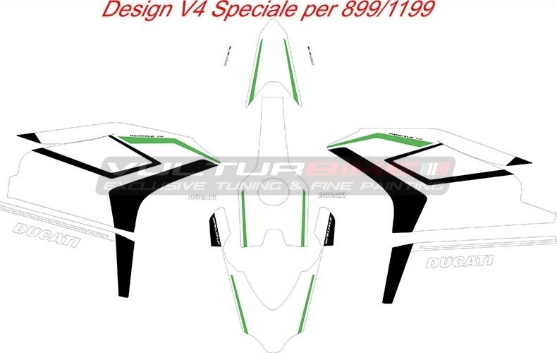 Vulturbike Ducati 899 1199 Panigale V4 Speciale Decal Sticker Kit