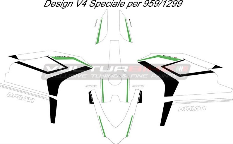 Vulturbike Ducati 959 1299 Panigale V4 Speciale Decal Sticker Kit