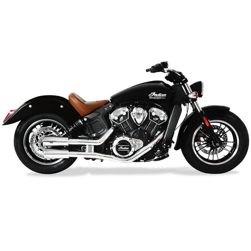 HP Corse Exhaust Indian Scout Bobber V2 Polished Silencer