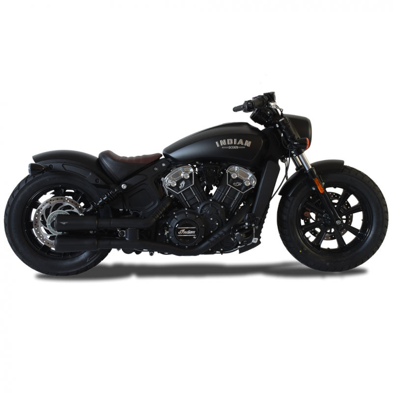 HP Corse Exhaust Indian Scout Bobber V2 Black Silencer