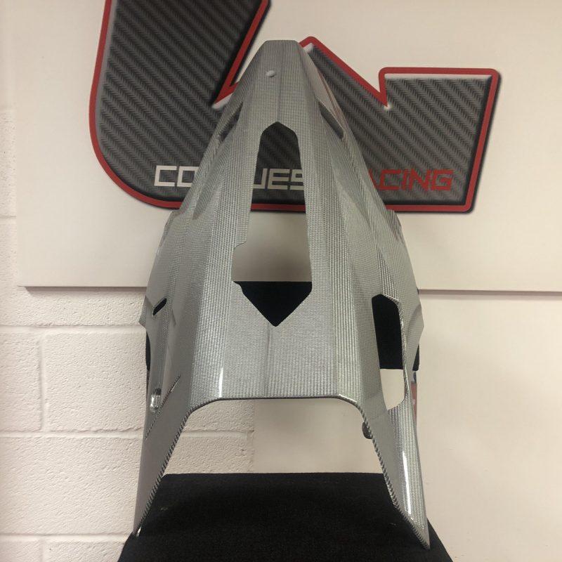 Fullsix Ducati 848 1098 1198 Carbon Fibre Belly Pan - Silver