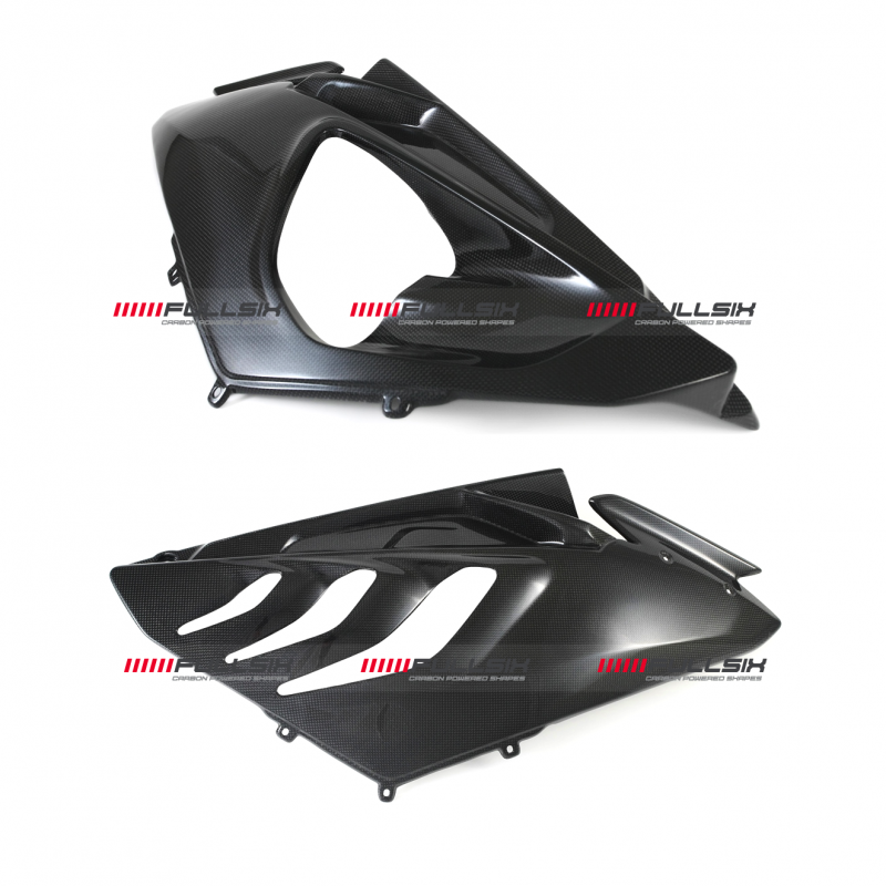Fullsix BMW S1000RR Plain Carbon Fibre Race Side Fairings 09-14