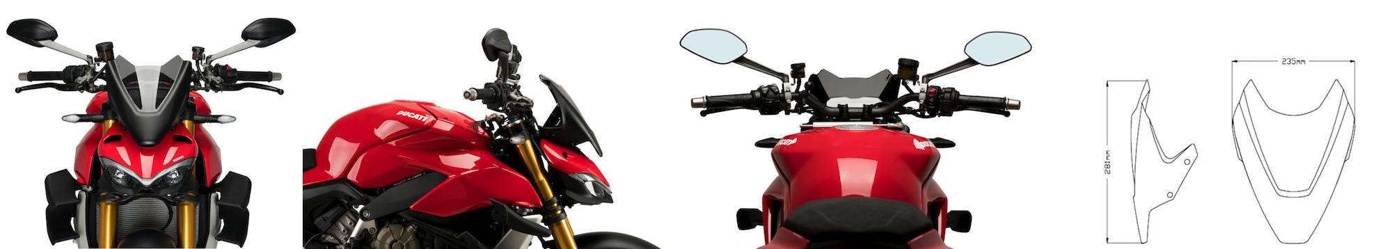 Puig Ducati Streetfighter V4 Sport Wind Screen 2020+