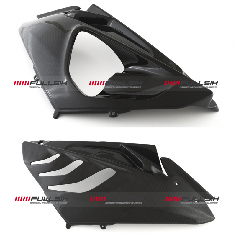 Fullsix BMW S1000RR Twill Carbon Fibre Race Side Fairings 09-14