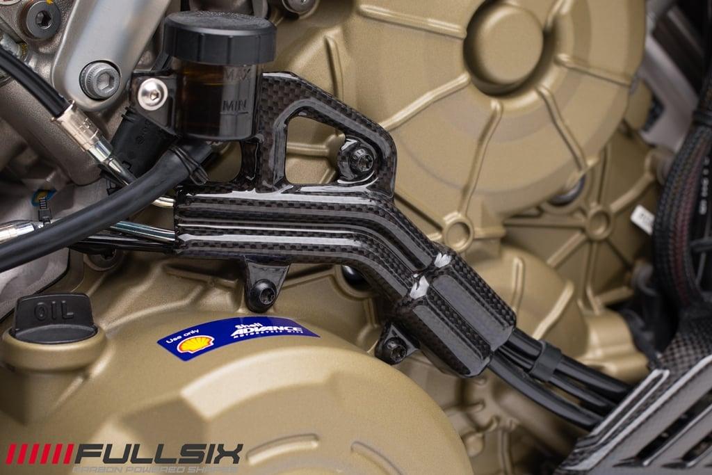 Fullsix Ducati Streetfighter V4 Carbon Fibre Rear Brake Reservoir Bracket