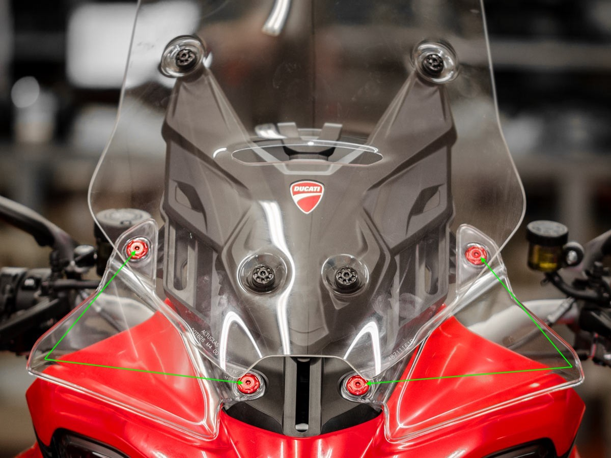 Ducabike Ducati Multistrada V4 Lower Deflector Screen Screws