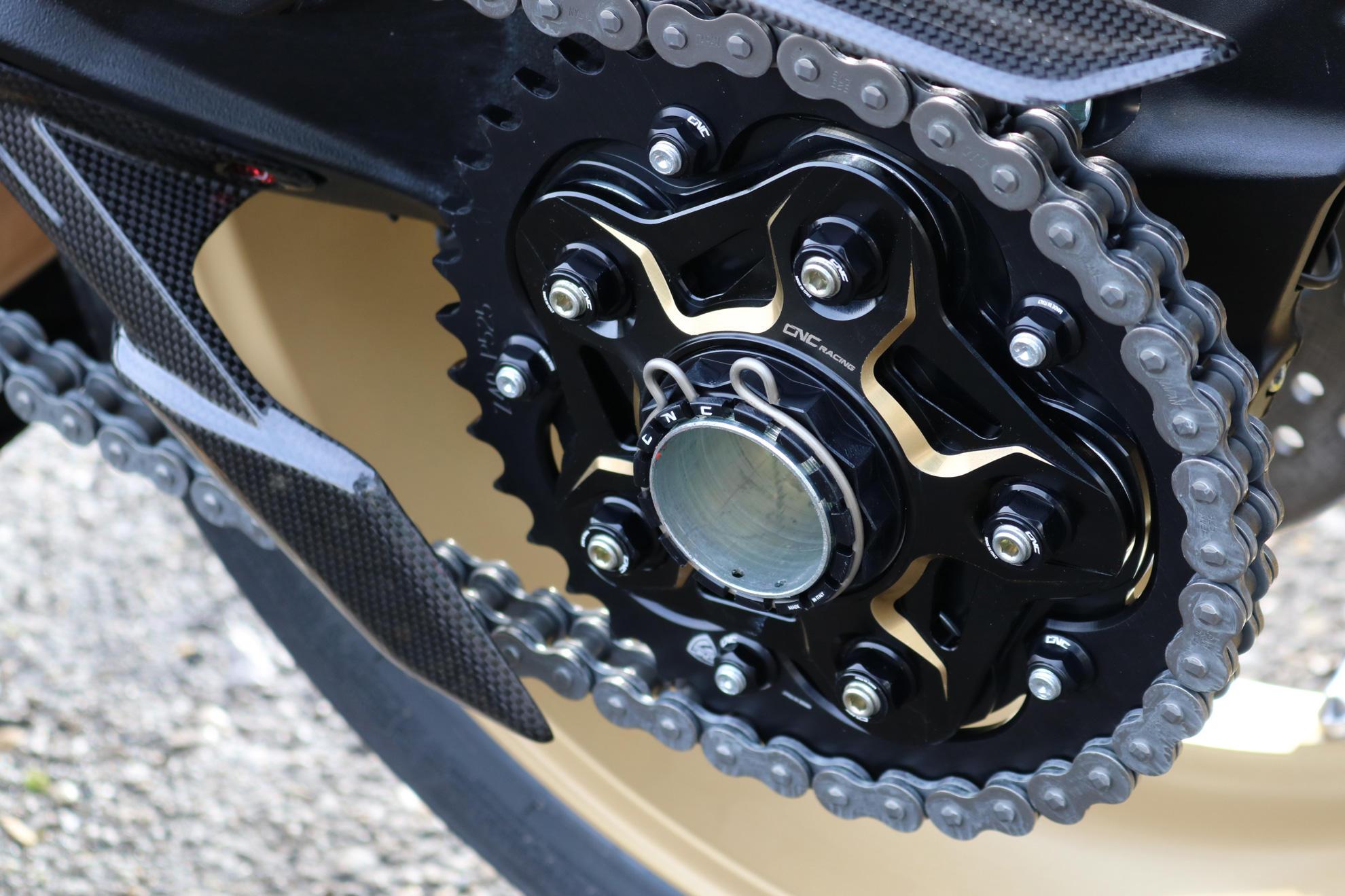 CNC Racing MV Agusta Sprocket Flange BiColour