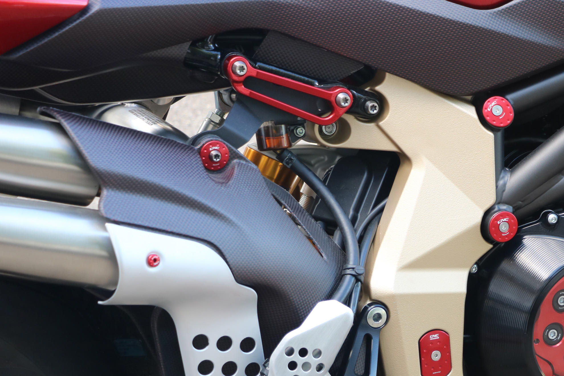 CNC Racing MV Agusta Brutale 1000 RR / Rush Rear Footrest Blanking Plates