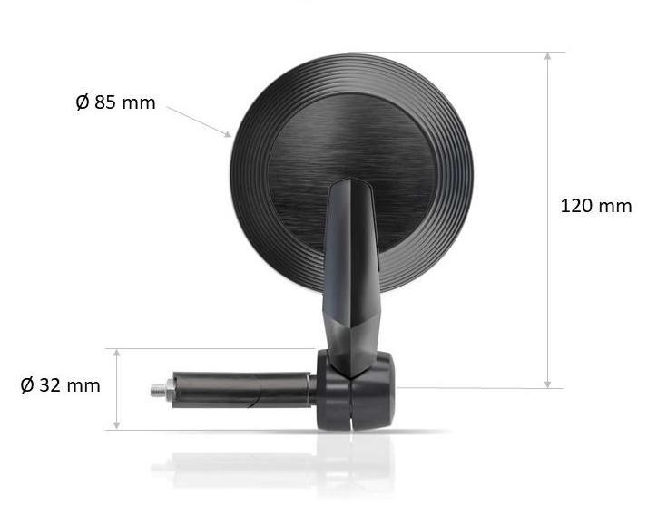 DB Race Universal X5 Bar End Mirror Diameter 13-21mm