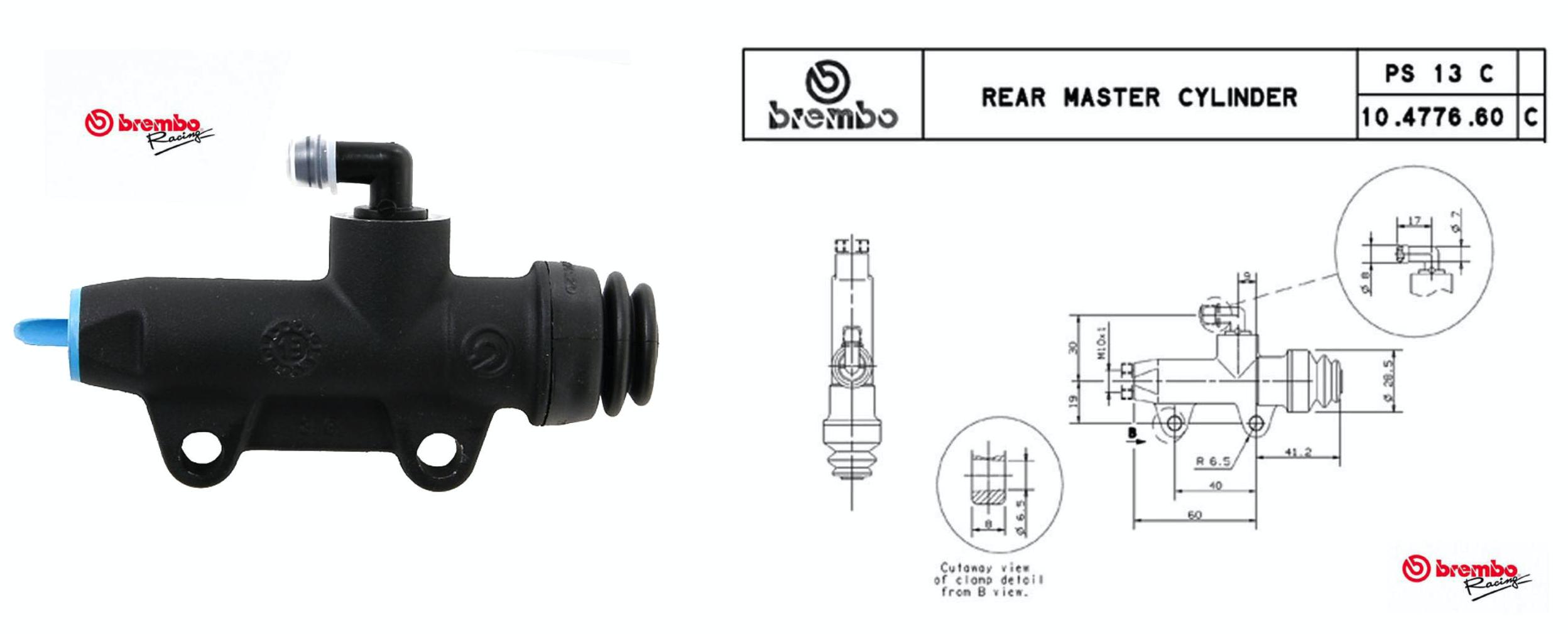 CNC Racing Index Finger Rear Brake Control Kit - Universal