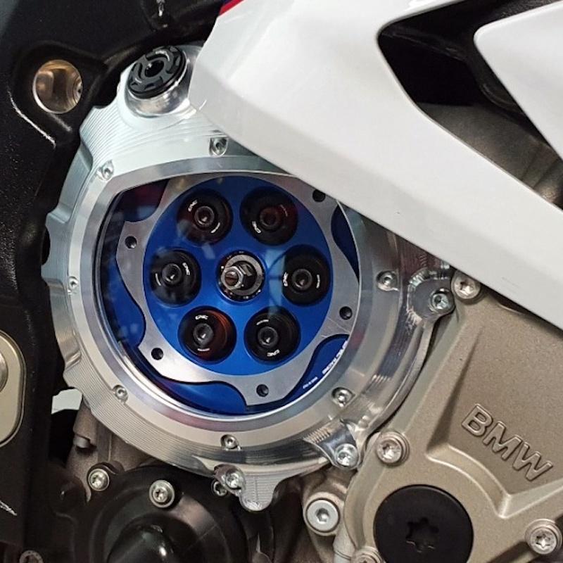 CNC Racing BMW S1000RR Clear Clutch Cover Kit - Hydraulic Clutch