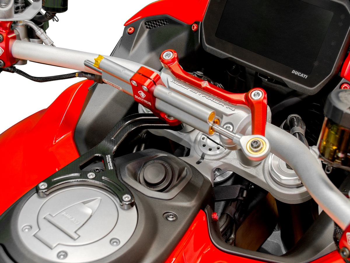 Ducabike Ducati Multistrada V4 Black Ohlins Steering Damper Kit