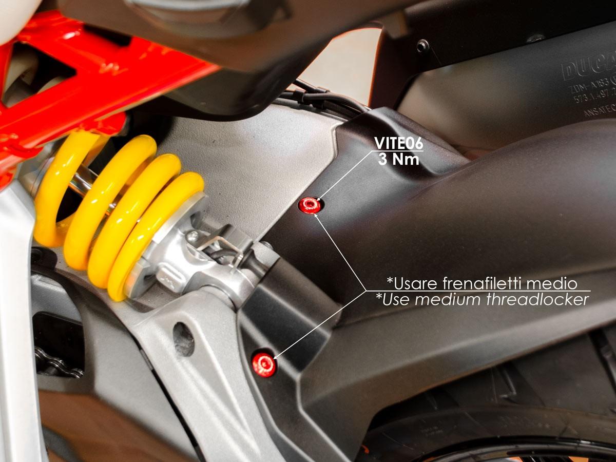 Ducabike Ducati Multistrada V4 Rear Fender Hugger Screw Kit